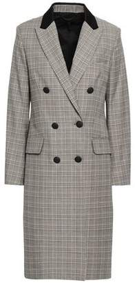 Rag & Bone Double-breasted Prince Of Wales Checked Wool And Cotton-blend Coat