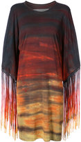 Raquel Allegra fringed tonal dress