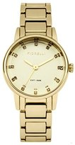 Fiorelli Women's Quartz Watch with Gold Dial Analogue Display and Gold Alloy Bracelet FO020GM