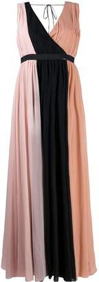 Liu Jo gathered colour block gown