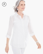 Chico's Cotton Voile Shirt