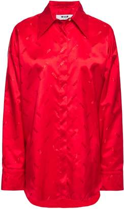 MSGM Satin-jacquard Shirt