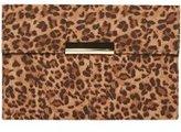 Dorothy Perkins Womens Leopard Faux Suede Clutch Bag- Leopard