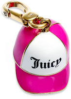 Juicy Couture Charm, Gold-Tone Pink Baseball Cap Charm