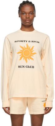 Sporty and Rich Beige Fun Logo Long Sleeve T-Shirt