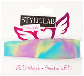 Fashion Angels Purple & Blue Swirl LED Bracelet Watch