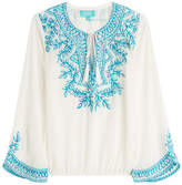 TAJ Beaded Silk Top