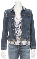 L'Agence Celine Studed Slim Fit Denim Jacket
