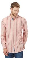 Mantaray Pink Textured Stripe Regular Fit Shirt