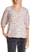 Rebecca Taylor Women's Lyra Floral Silk Top