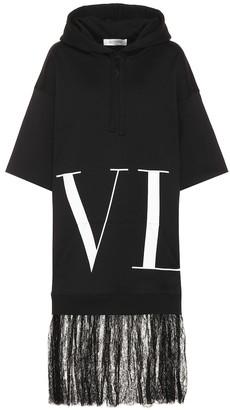 Valentino VLTN cotton-blend hoodie dress