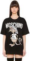 Moschino Oversized Printed Cotton Jersey T-Shirt