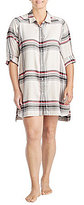 Donna Karan Plus Plaid Flannel Sleepshirt