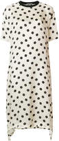 Hache polka-dot flared dress