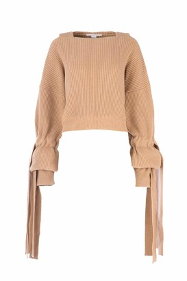 Stella McCartney Ribbed Sleeve Detail Knit