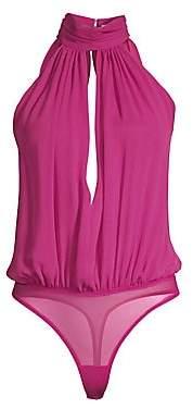 Fleur Du Mal Women's Keyhole Draped Bodysuit