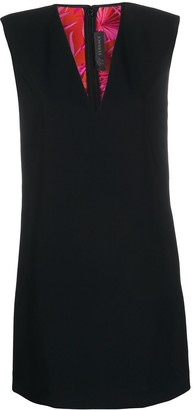 Versace Structured Shoulders Mini Dress