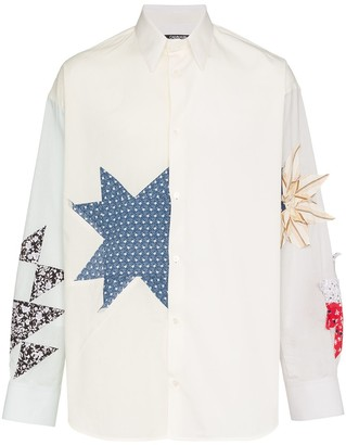 Calvin Klein Embroidered detail button-down cotton shirt