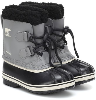 Sorel Kids Yoot Pac faux fur-trimmed leather snow boots