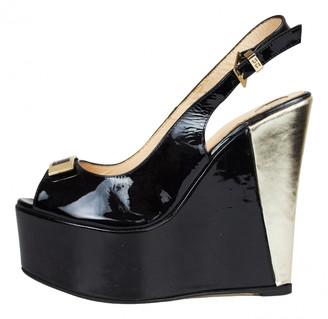 Elisabetta Franchi Black Patent leather Sandals