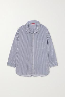Denimist Striped Cotton Shirt - Navy