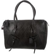 Gianfranco Ferre Embossed Leather Handle Bag