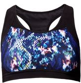 Matthew Williamson Snake Print Scoop Neck Sports Bra