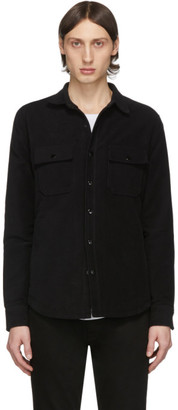Frame Black Moleskin Shirt Jacket