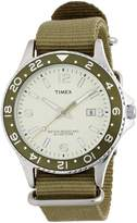 Timex Classic Men's Quartz Watch with Green Dial Analogue Display and Green Nylon Strap T2P035PF
