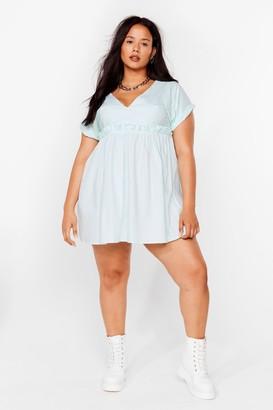 Nasty Gal Womens So Very Smooth Plus Mini Dress - Sage