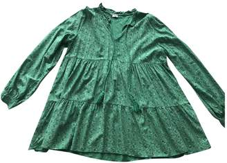 Green Cotton Non Signé / Unsigned Non Signe / Unsigned Top for Women