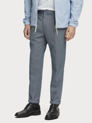 Scotch & Soda Blake - Pleated Patterned Trousers Regular slim fit   Men