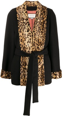 Gucci Leopard Panels Coat