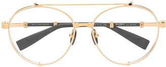 Balmain Eyewear Brigade II aviator-frame glasses