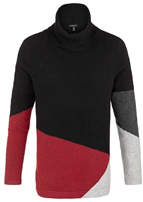 Tribal Long Sleeve Color-Block Sweater (Red Haute) Women's Sweater