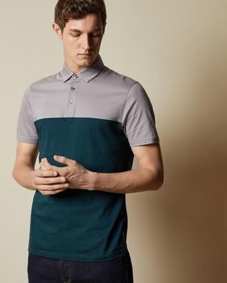 Ted Baker Cotton Colour Block Polo Shirt
