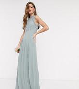TFNC Tall Tall bridesmaid lace back maxi dress in sage