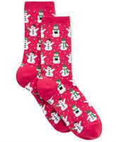 Hot Sox Women's Snowmen Socks