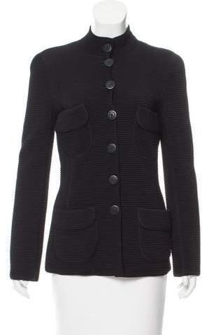 Giorgio Armani Knit Stand Collar Jacket w/ Tags