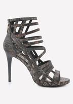 Bebe Aubrea Metallic Sandals