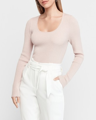 Express Fitted Scoop Neck Sweater