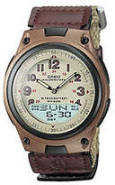 Casio Men's World Time Ana-Digi Beige Watch