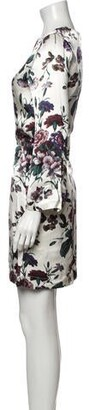 Ganni Floral Print Mini Dress w/ Tags White