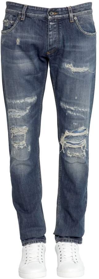 Dolce & Gabbana 17cm Gold Fit Destroyed Denim Jeans