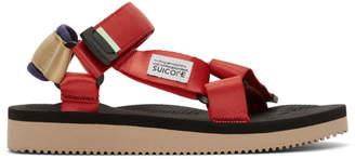 Suicoke Red DEPA-Cab Sandals