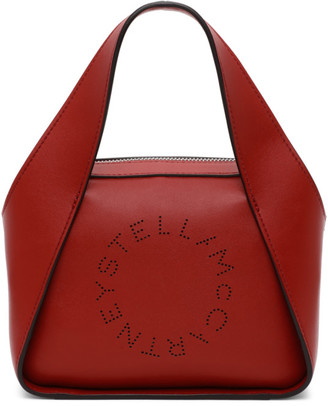 Stella McCartney Red Small Logo Tote