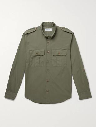 Frescobol Carioca + Johannes Huebl Button-Down Collar Cotton-Poplin Shirt