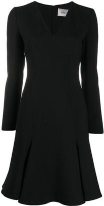 Valentino V-neck flared dress