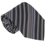 Missoni U4481 Gray/black Sharkskin 100% Silk Tie.