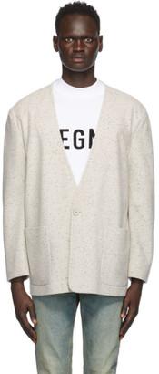 Fear of God Ermenegildo Zegna Off-White Wool One-Button Jacket